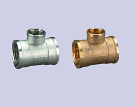 """Brass Fitting Reducing Female Tee From 3/4"""" to 1"""""""