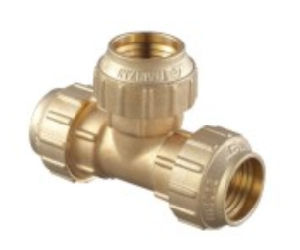 Flow Aperture Threaded Brass Female Tee Copper TF-02 pictures & photos