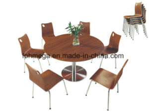 Hotselling Big Round Dining Table with Stainless Steel Legs (FOH-BC30) pictures & photos