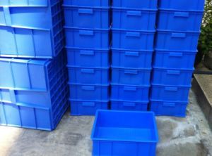 Blue Solid PP Plastic Crate pictures & photos