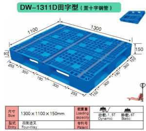 1300*1100*150mm Standard Export Warehouse Rack Plastic Pallet pictures & photos