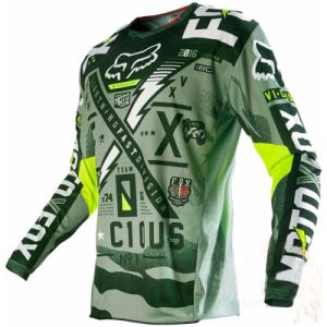 Green New Fashionable Custom Professional Sublimation Racing Jersey (MAT55) pictures & photos