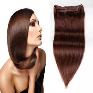 Brazilian Human Hair Unprocessed Virgin Clip in Hair Extension pictures & photos