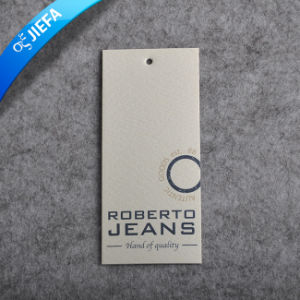 Eco-Friendly Custom Brand Logo PVC Clothing Hang Tag pictures & photos