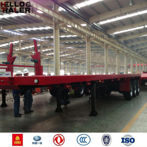 New 40FT Flatbed Trailer with Container Lock pictures & photos