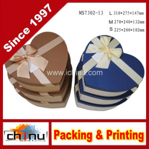 Gift Box Set, Heart-Shape Nesting Boxes, Set of 3 Nested Decorative Boxes, 1 Set of 3 Nested Boxes (110004) pictures & photos