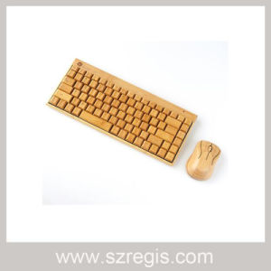 Intelligent Power Saving Wireless Bamboo Keyboard Mouse Set pictures & photos