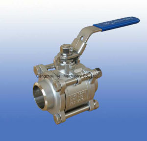 3PC Stainless Steel Ball Valve with Socket Weld 1000wog pictures & photos