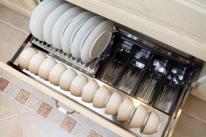 PVC Veneer Kitchen with Modern Breakfast Bar (zc-024) pictures & photos