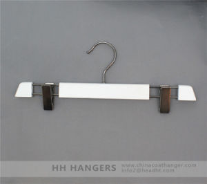 Adjustable Classic Design Wooden Clips Skirt Hangers pictures & photos