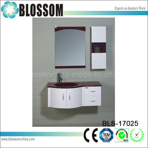 PVC Bathroom Furniture with Side Cabinet Bathroom Vanity Unit (BLS-17025) pictures & photos
