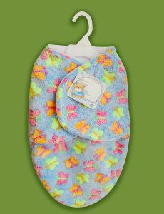 Offset Printed Coral Fleece Sleeping Bag (HR01SB001) pictures & photos