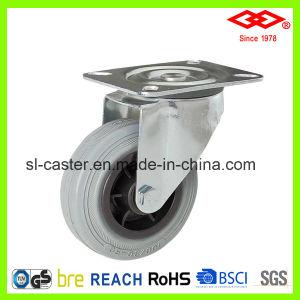 Grey Rubber Bolt Hole Caster (G102-32D080X25) pictures & photos