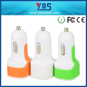 Hot Selling 2 Port 5V 3.4A USB Car Charger for iPhone for Android Phone pictures & photos