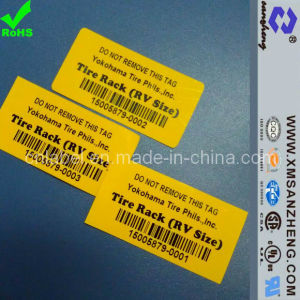 Custom Glossy Clear Pet Self Adhesive Weather Resistant Barcodes Labels pictures & photos