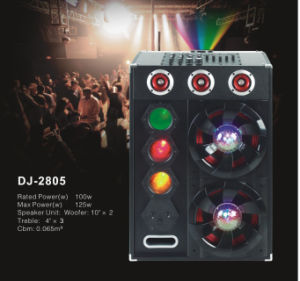 Customized Professional Stage Speaker with 2 Disco Light+Bt (DJ-2805)