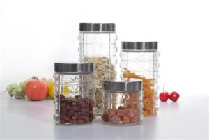 Glass Storage Jar with Stainless Steel Lid
