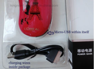 Fashion Design Power Bank 5200mAh for Loreal pictures & photos