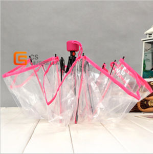 Prink Edage Clear Foldable Poe Umbrella (YS-T1004A) pictures & photos