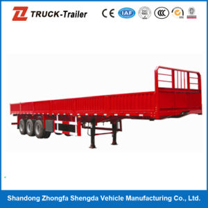 Large Capacity 3 Axles Platform Side Wall Semi Trailer for Sale