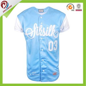 Sublimation Polyester Custom Stripe Baseball Jersey with Quality pictures & photos