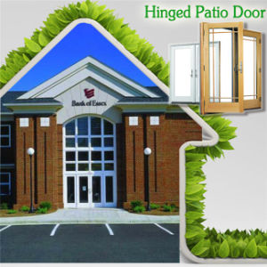 USA Thermal Break Aluminum Hinged Door for Private High End House, Entrance Door with Beautiful Divided Grille pictures & photos