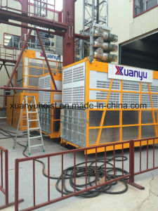 High Quality China Manufacturer 1 Ton Rack and Pinion Building Hoist pictures & photos