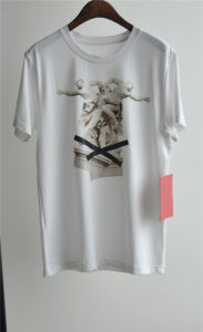Men′s Fashion Design Printed Cotton White T-Shirt for Summer pictures & photos