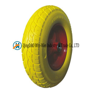 Flat Free Construction Wheelbarrow Tyre 4.80/4.00-8 pictures & photos