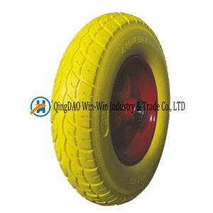 Flat Free PU Wheel for Construction Wheelbarrow (4.80/4.00-8) pictures & photos