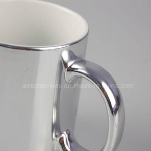 Customized Promotional Silver Decal Porcelain Ceramic Cups pictures & photos