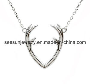 925 Fashion Silver Jewelry Antlers Necklace for Gift pictures & photos