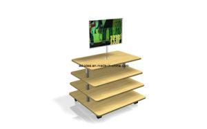 4 Tier Melamine MDF Display Stand pictures & photos