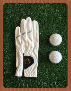 All Weather Raingrip Synthetic Leather Men Golf Glove with Embriodery