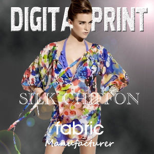 Digital Printed Chiffon Fabric pictures & photos