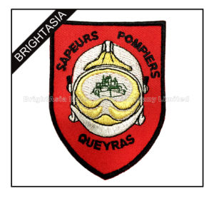 Shield Embroidered Patches with Special Sliver Thread (BYH-10978) pictures & photos