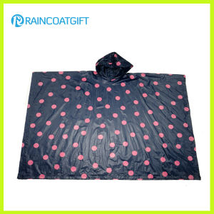 Promotional Full Printing Adult PE Rain Poncho Rpe-014 pictures & photos