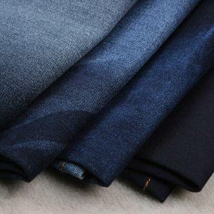 Good Stretch CTN/Poly/Spandex Print Stock Denim Fabric pictures & photos