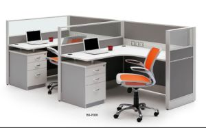 Traditional Modular Office Workstation with L Shaped Desk Top (HF-BSP008) pictures & photos