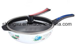 Applique Coated Ceramic Pure Iron Non-Stick Gift Wok Sx-C003 pictures & photos