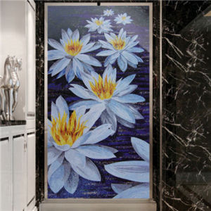 Modern Art Flower Picture Wallpaper Suitable for Dining Room, Drawing Room, Aisle
