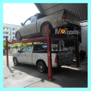 2 Cars Vehicles Automobiles Hydraulic Motor Full Cover Platform 4 Post Car Parking Lift pictures & photos