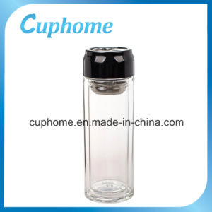 BPA Free 300ml 10oz Glass Water Bottle for Office Use