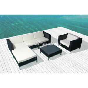 Wicker Sofa for Outdoor with Aluminum Feet (8201AU) pictures & photos