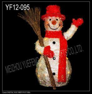 White Tinsel Snowman (YF12-095)