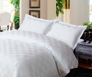 100% Cotton Hotel White Bedding Set pictures & photos