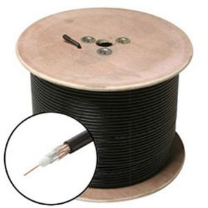 305m Wooden Spool Packing Bu Cu Conductor High Quality RG6 Bulk Cable pictures & photos