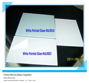 Decorative White Painted Glass Ral9010/Ral9003 pictures & photos