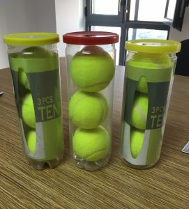 High Quality 3PCS Tin Packing Tennis Ball pictures & photos