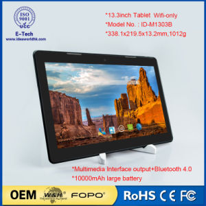 13.3inch WiFi Tablet IPS Panel Quad Core Android Tablet